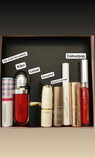 L'oreal / Cezanne / Kiko / Beauty Cottage / Colourpop / Too Cool for School  口紅 唇釉1支70、7支一起450
