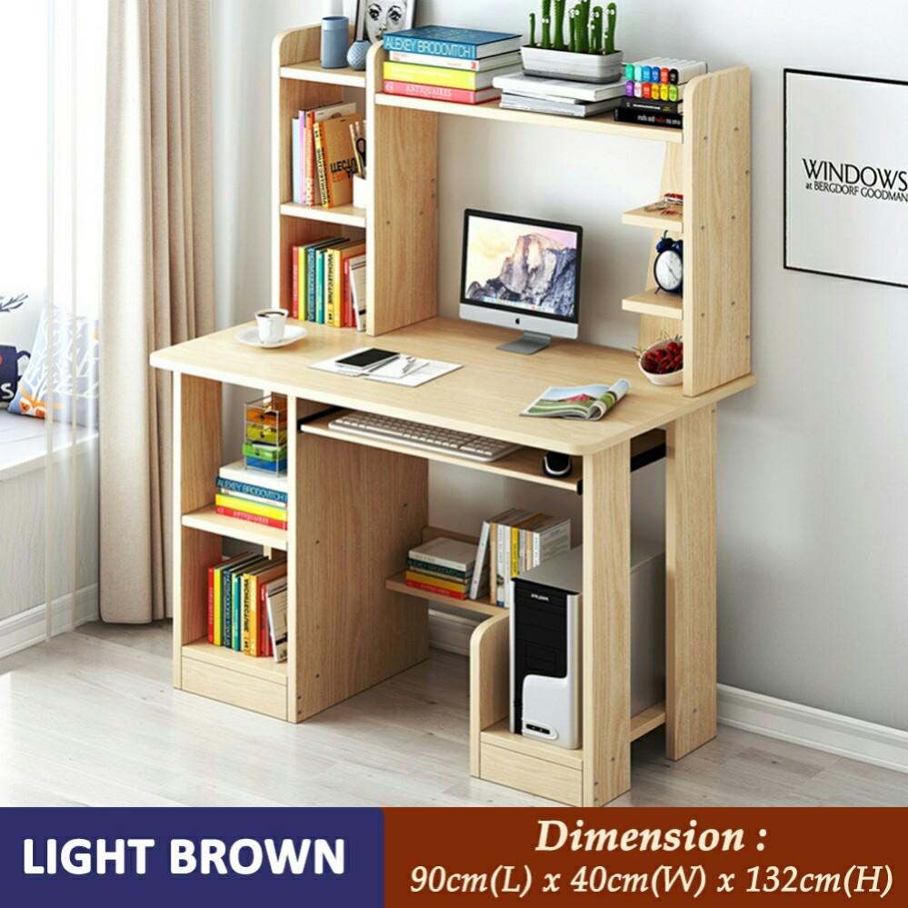 Meja Pc Dengan Rak Buku Home Furniture Furniture On Carousell Meja laptop dan printer