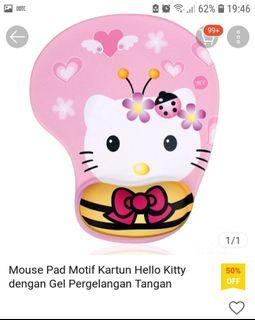 Mouse pad gel pink hello kitty