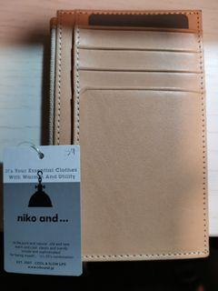niko and... Leather Card coins holder