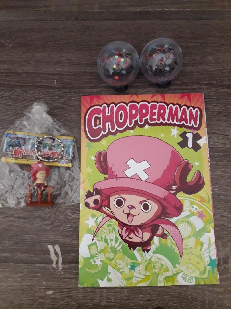 One Piece Chopper Combo of 3 : 2 Globes, Keychain and Clear Plate