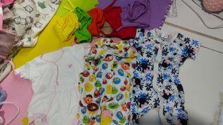 Popok kain 6 pcs dan baju newborn