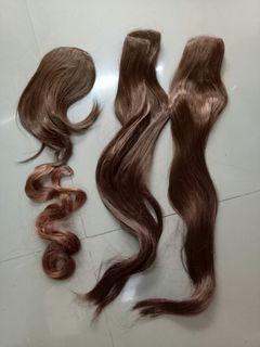 4pcs Hair Extensions Copper Brown
