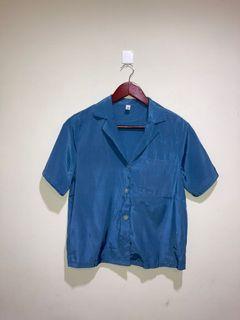 絲綢材質短袖上衣