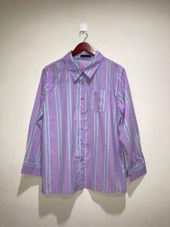 紫色條紋襯衫
