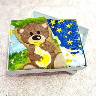 【全新】全新  娃娃城 baby city 禮盒 FEILER 星星銀幣手巾 蜂蜜熊手巾 德國製造