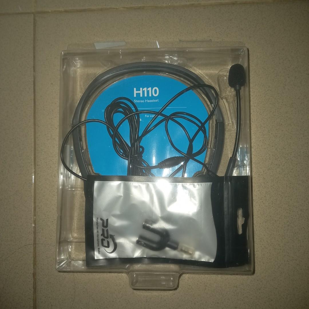Headset Logitech H110 free Converter Jack