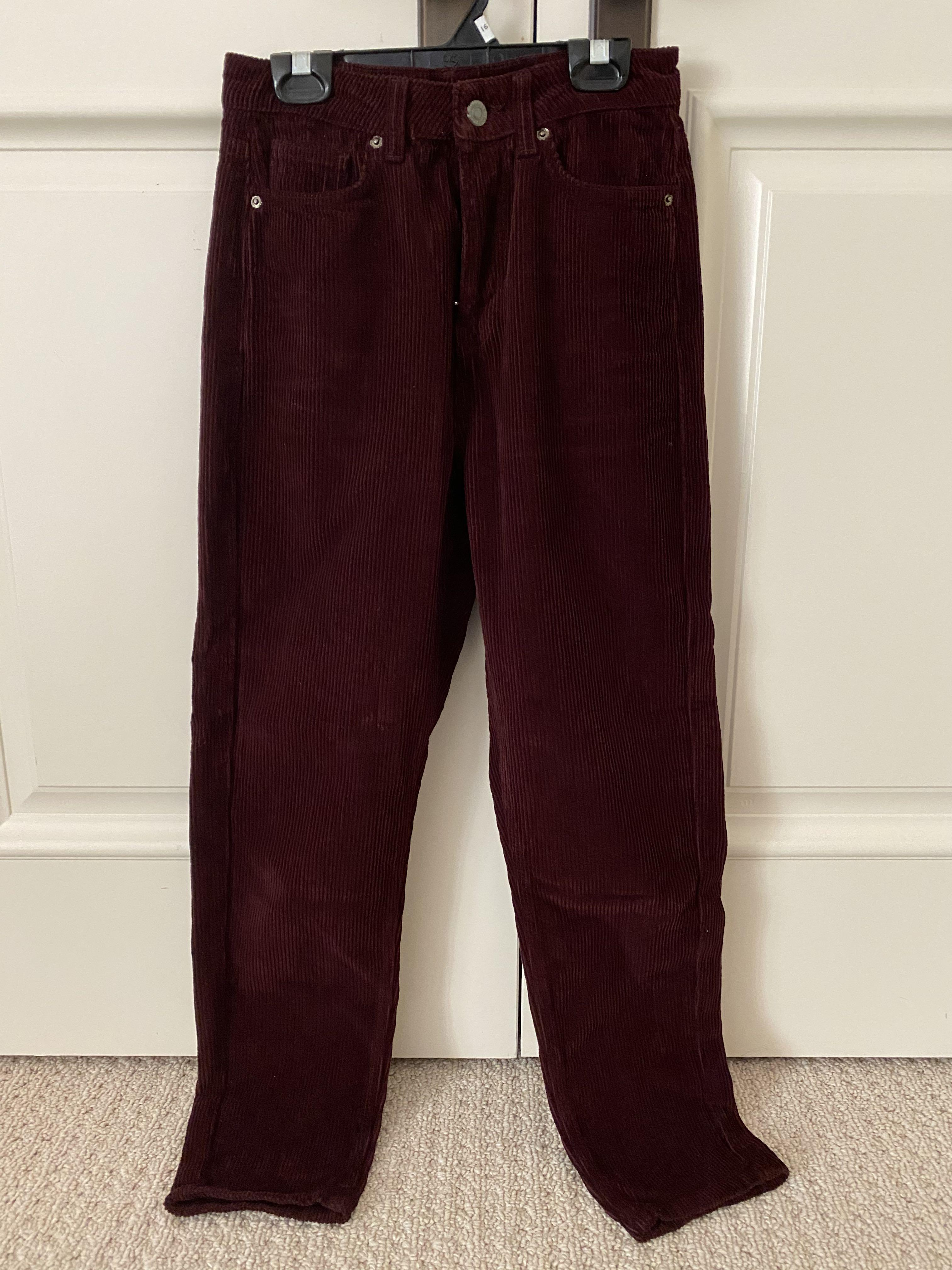 Topshop High Wasted Corduroy Pants