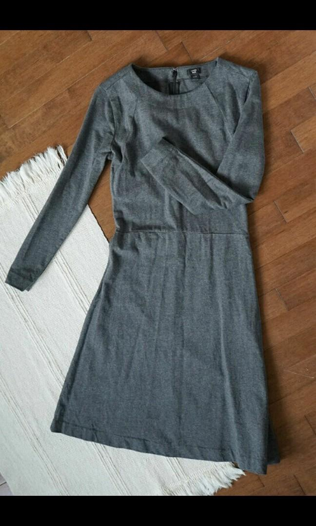 J crew dress and nordstrom boots size 6