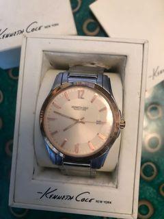 Kenneth Cole Mens Quartz Watch Rose Gold Tone Stainless Bracelet