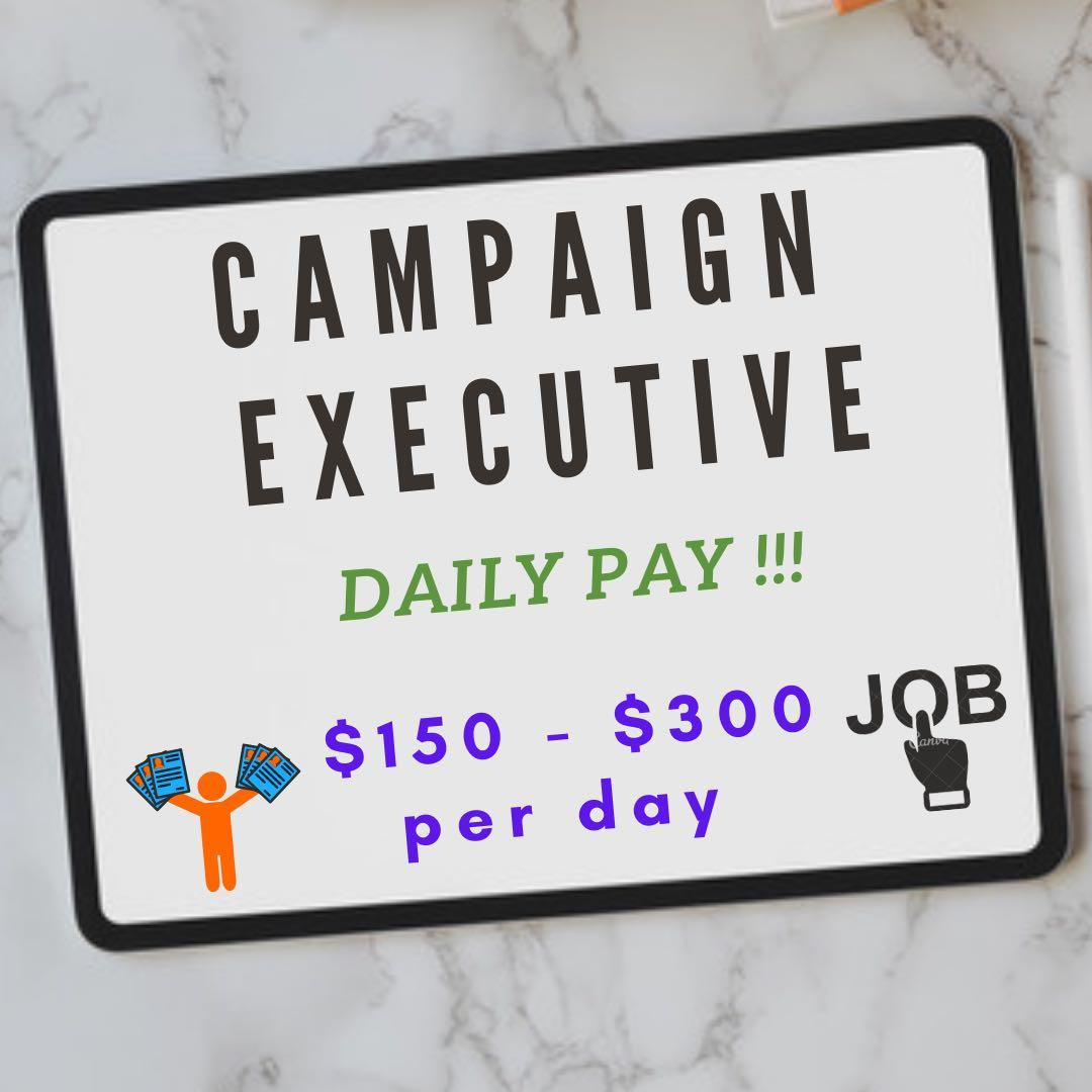 Part Time / Full Time, DAILY PAY! SALES EXECUTIVE