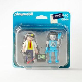 【現貨】playmobil 6844 魔比人 機器人 科學家 科學怪人 吊卡