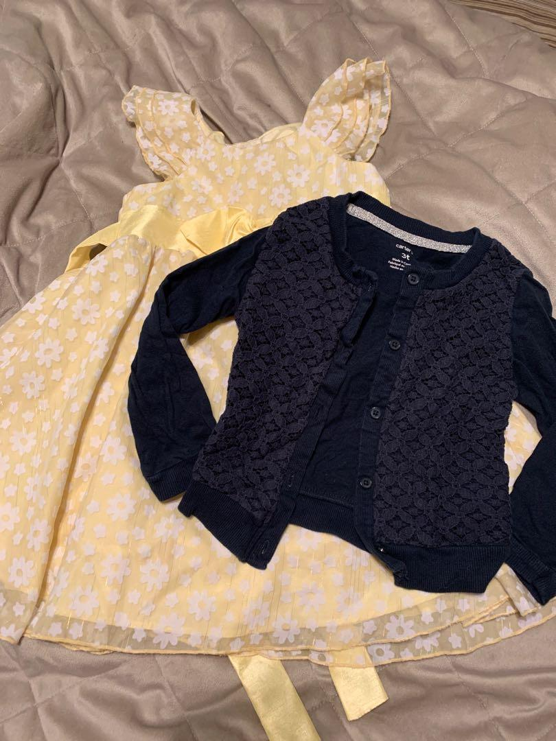 Size 3 dress and cardigan