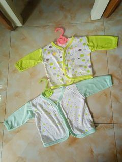 2 pcs Baju bayi baju tidur bayi lengan panjang