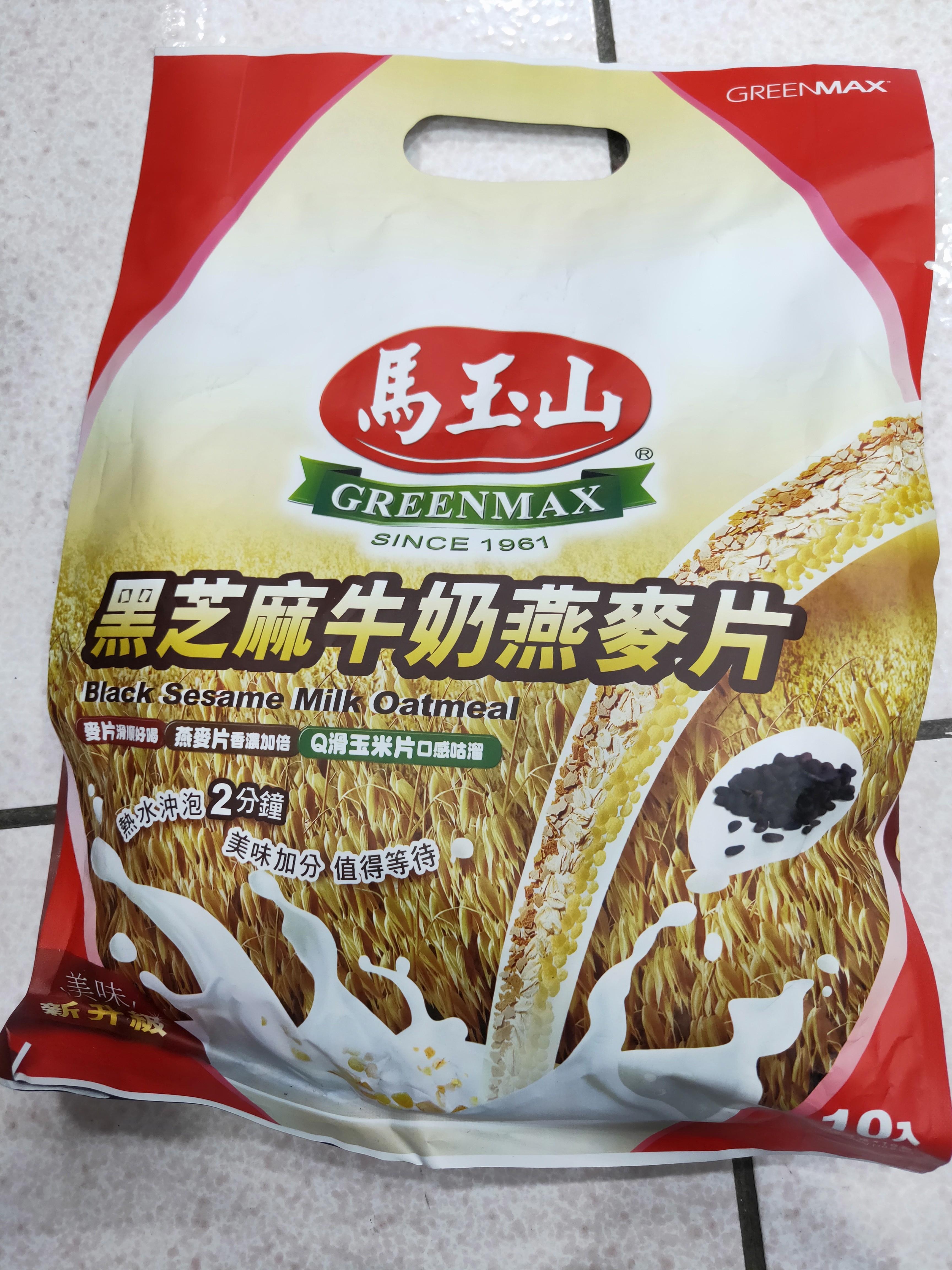 馬玉山黑芝麻牛奶燕麥片