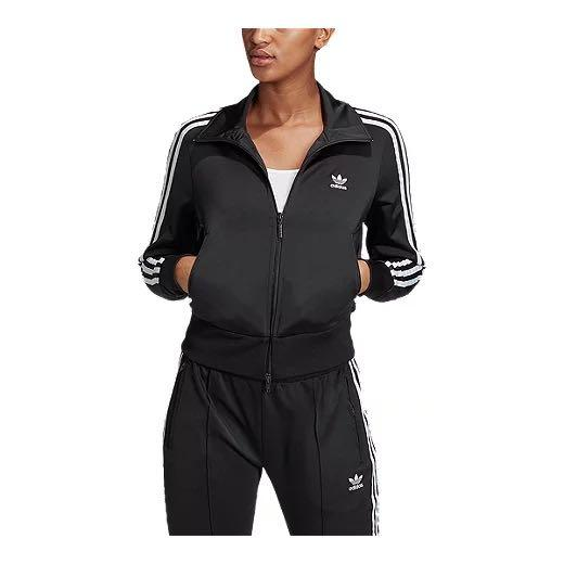 Adidas firebird black tracksuit zip-up