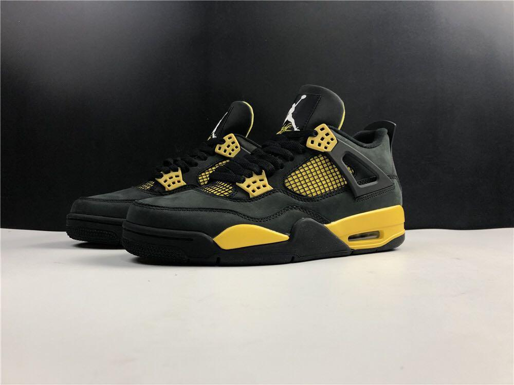 Air Jordan 4 Thunder AJ4, Men's Shoes, Sport Shoes,