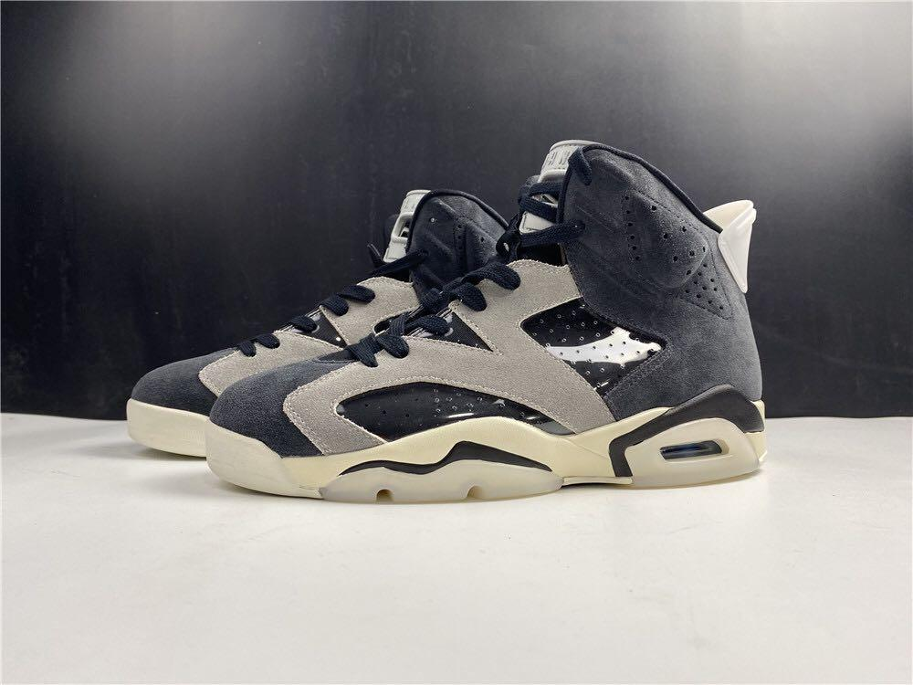 "Air Jordan 6 WMNS ""Tech Chrome"" Sport Shoes In Leather  . Aj 1 3 4 5 7 11 13 14"