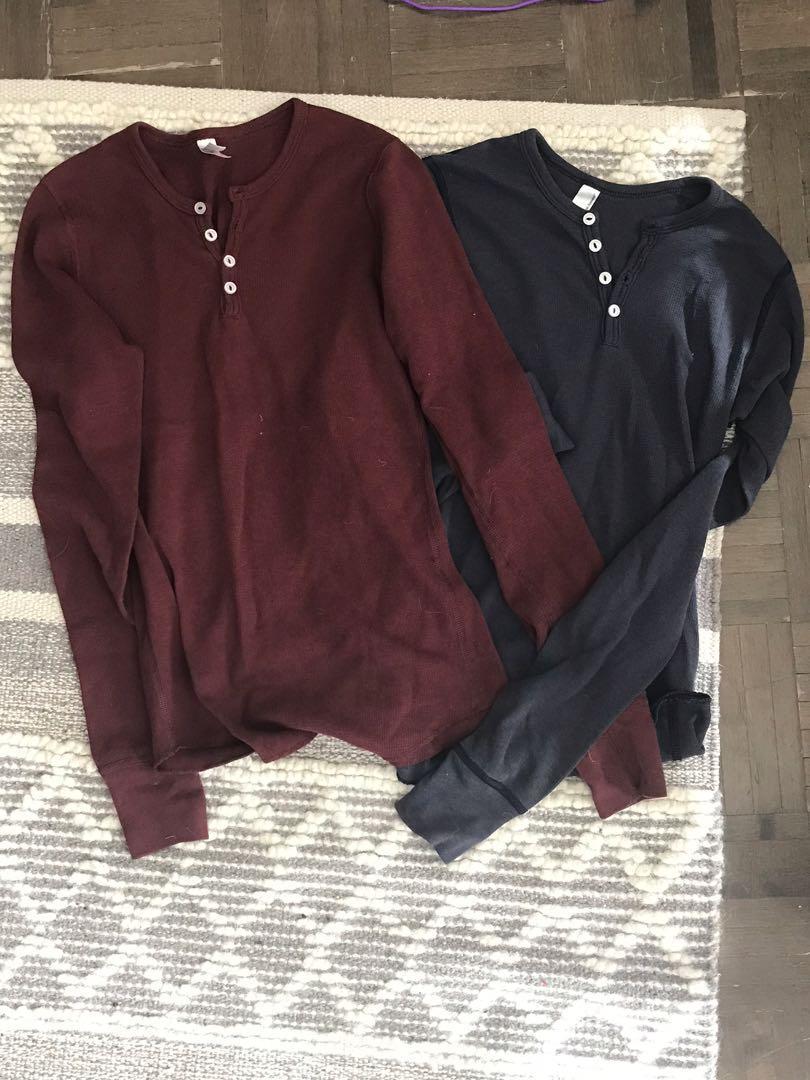 American apparel thermal long sleeves