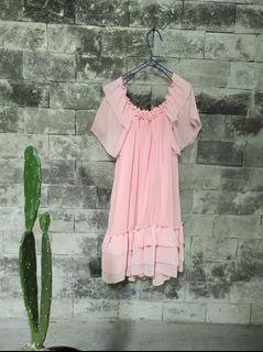 Baby doll dress pink soft