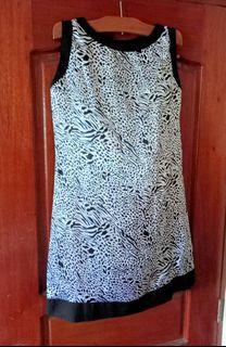Celine Black Silk Leopard / Animal Print Dress