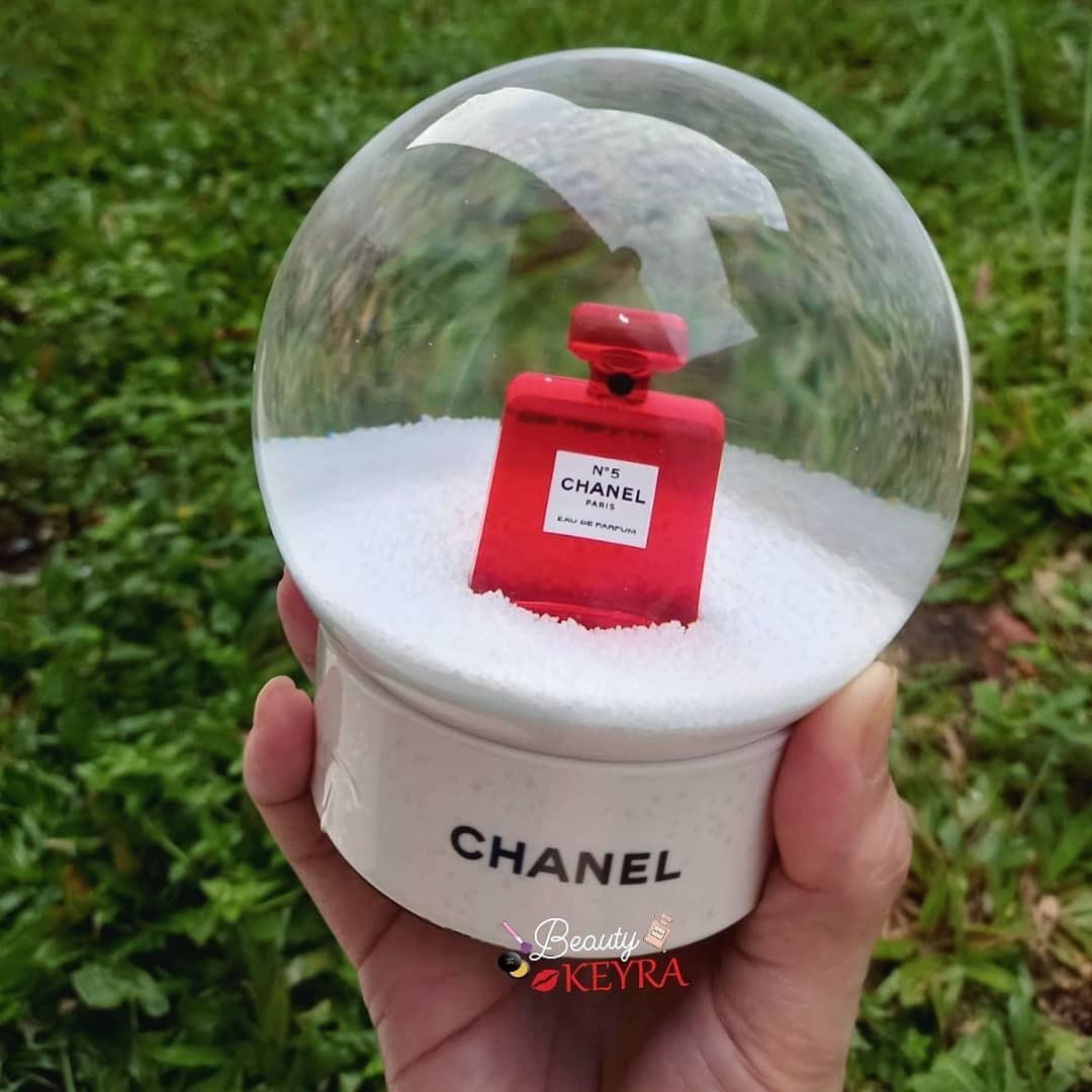 Chanel globe red bottle