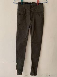 Colza Skinny Jeans Green Army
