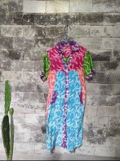 Dress batik patch/kombinasj/colorfull