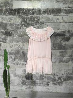 Dressbaby doll kerah lace