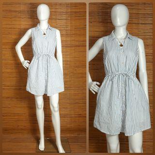 HEM & THREAD STRIPE SHIRT DRESS