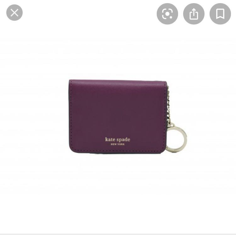 Kate Spade ♠️ Fuchsia Nadine Bi-fold Wallet With Key Ring