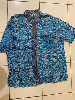 Kemeja Batik Motif Biru