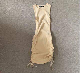 Lioness pastel yellow dress, xs