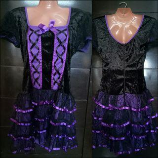 Lolita Black and Purple Dress for Cosplay