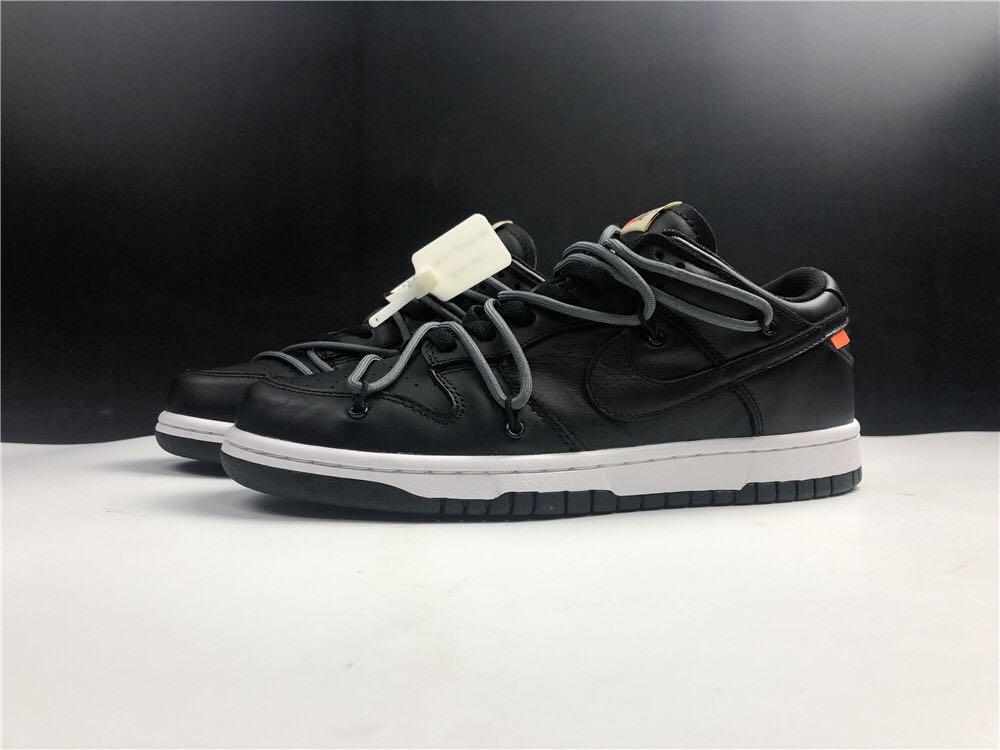 OFF White NK SB DUNK Sport Shoes In Leather  . Aj 1 3 4 5 7 11 13 14