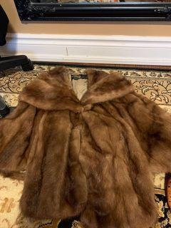 Real fur diane's shawl coat (size S)