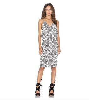 REVOLVE Domino Tie Front Mini Dress