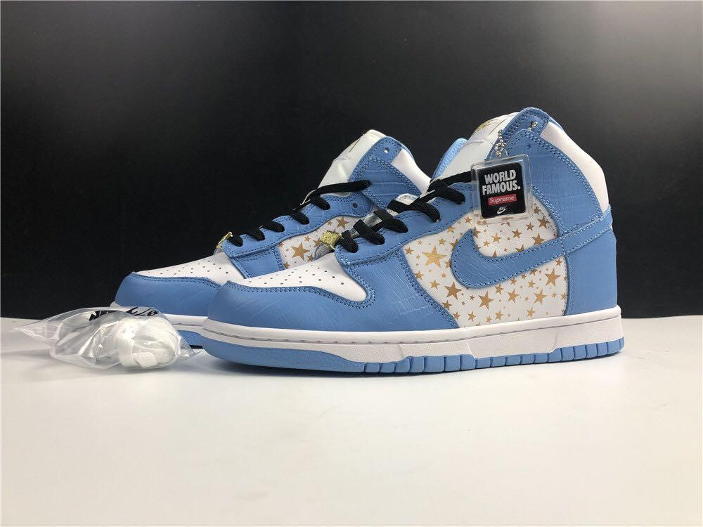 Supreme & Nk SB Dunk High Sport Shoes With 5 Stars