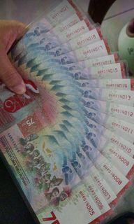 Upk uang 75000 new uang kemerdekaan