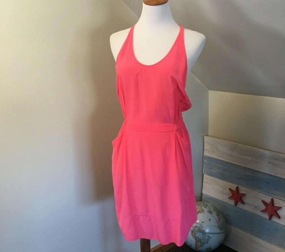 Wilfred Hot Pink Silk Dress - Size S
