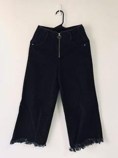 ZARA復古顯瘦牛仔褲