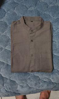 無印良品立領襯衫 M 深灰