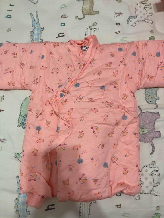 全新僅下水~心福粉色棉襖睡衣外套 18M