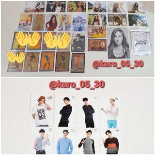 Album SNSD Girls' Generation JAPAN dan Photocard SNS, EXO dan Hansol SM Rookies