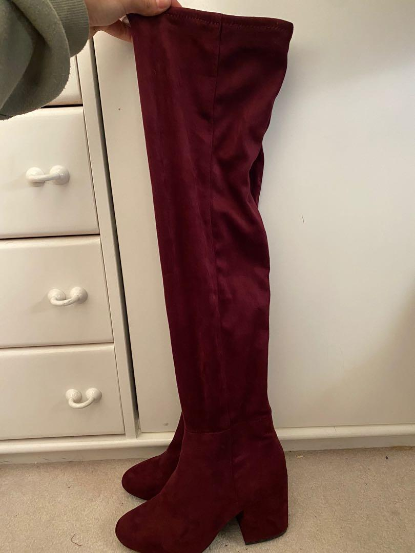 Aldo thigh high boots size 7.5