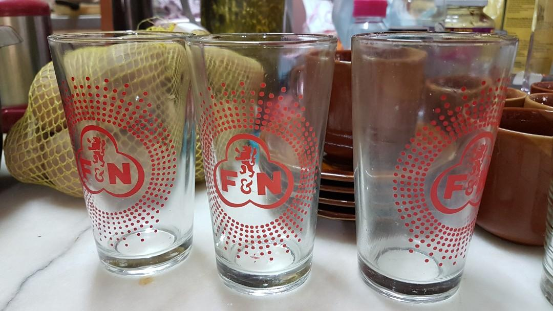 F&N cups glass gelas fN 3pcs