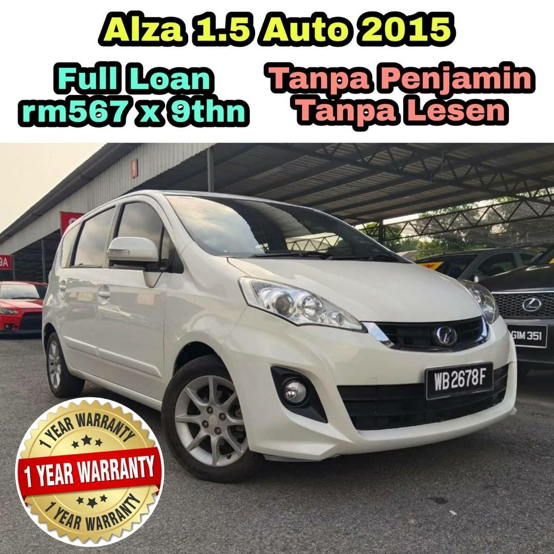 FULL LOAN 💯 Perodua Alza 1.5 Auto 2015. 1 YEAR WARRANTY ‼️