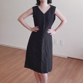 G2000 Women Black Linen Blend Dress