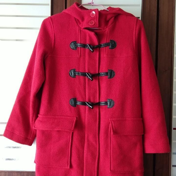 GAP紅色毛料大衣(XXL)約150-160cm