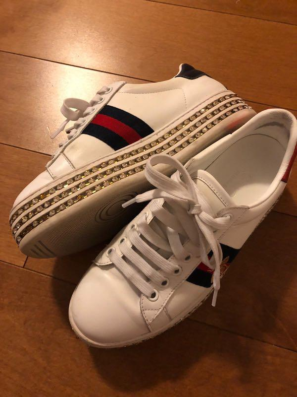 Gucci Bling platform sneakers size 7.5